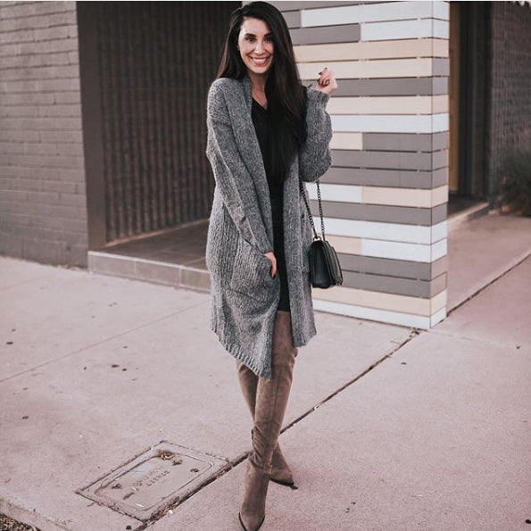 @halljessicalynn - Long Cardigan With Pockets