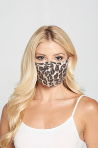 Leopard Print Reusable Mask