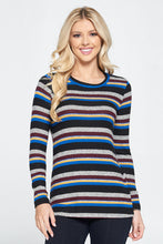 Striped Round Neck Knit Top