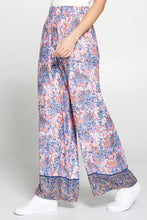 Multi Color Border Print Palazzo Pants