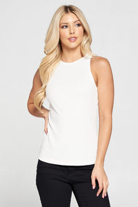 Racer Back Rib Knit Tank Top