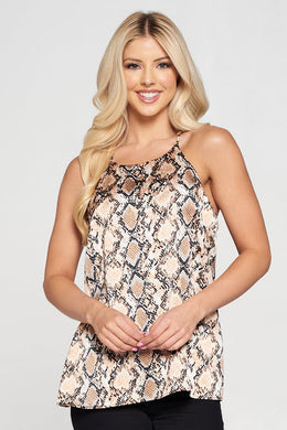 Animal Print Racer back Tank Top