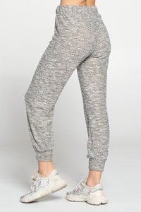 Taupe Tweed Jogger Pants