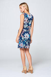 Floral Print Dress with Front Knot