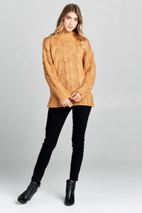 Long Sleeve Knit Mock Neck Sweater