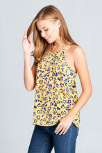 RACER BACK LEOPARD PRINTED TOP