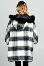 OVERSIZED JACKET WITH FURRY HOOD