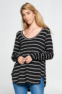 LONG SLEEVE STRIPED TUNIC TOP