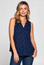 POLKA DOT SLEEVELESS TOP