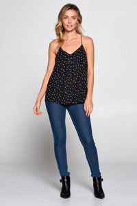 POLKA DOT RACERBACK TOP
