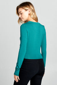 LONG SLEEVE SOLID TOP