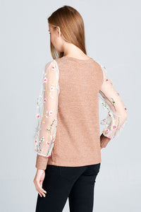 LONG SLEEVE SHIMMER TOP