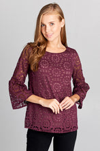 PATTERNED KNIT LACE TOP