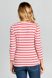 LONG SLEEVE STRIPED TOP