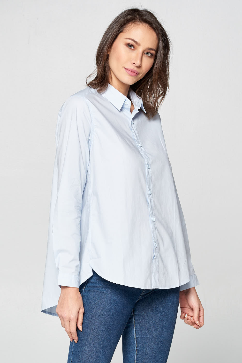 85499cb86521ec LONG SLEEVE BUTTON UP COLLARED SHIRT – Renee Collection