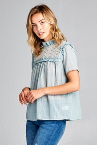 SHORT SLEEVE SUMMER TOP