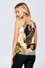 SLEEVELESS CHAIN PRINT TOP