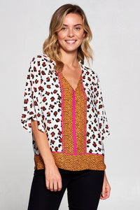 BOHO EMBROIDERED SHORT SLEEVE TOP