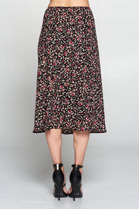 Abstract Animal Print Skirt