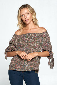 MULTI COLOR OFF THE SHOULDER TOP