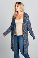 LONG CARDIGAN WITH BACK FRINGE DETAIL
