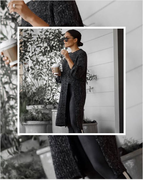 @sarahwisted - Knit Sweater With Side Slit