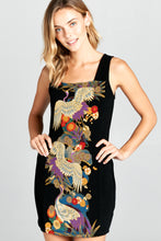PRINT SLEEVELESS BODYCON DRESS