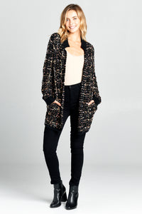 THICK KNIT CARDIGAN WITH FRONT POCKETS