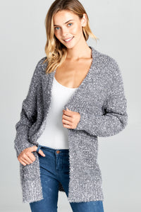 Knit Mid Length Cardigan