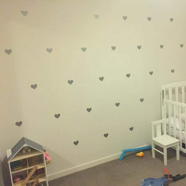 Hearts Wall Decoration Decals - Dark Gray / 2.7in| 32pcs - Home Decor Decals