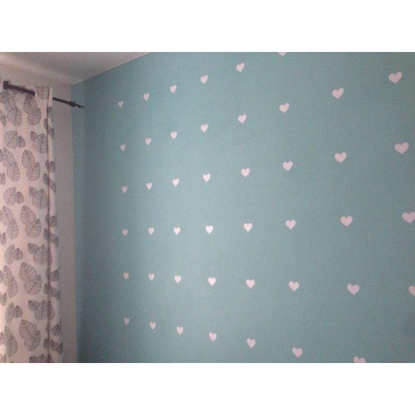 Hearts Wall Decoration Decals - Soft Pink / 2.7in| 32pcs - Home Decor Decals