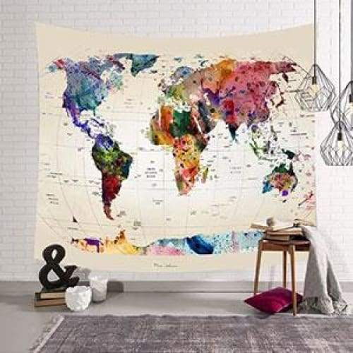 World Map tapestry - Wall Decor