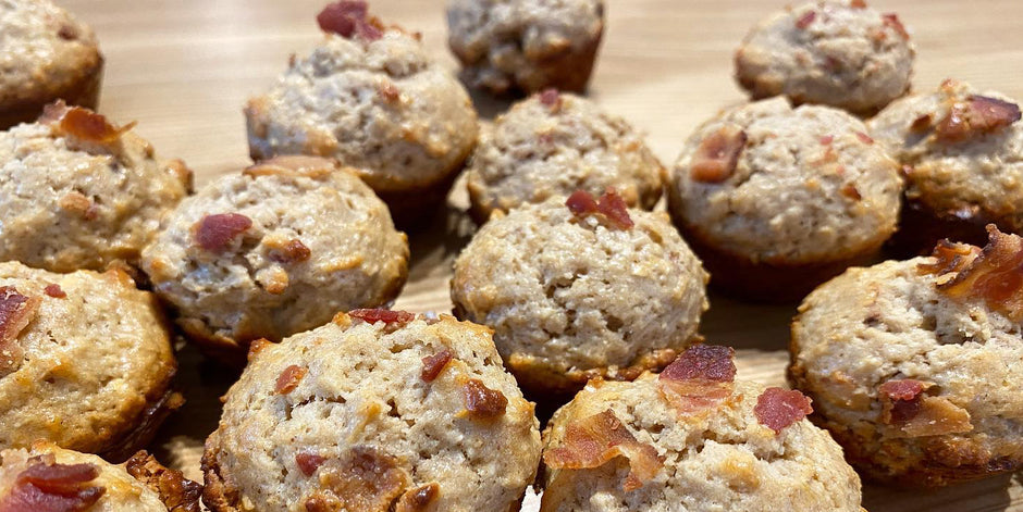 Caramel Bacon Protein Mini Muffins