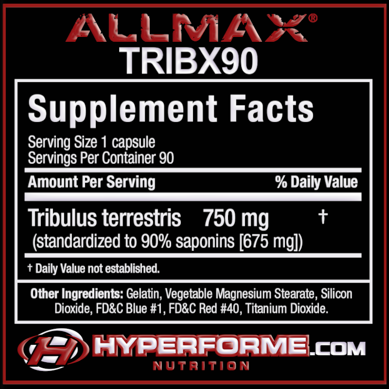 ALLMAX TRIBX90 NUTRITION FACTS