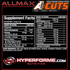 ALLMAX acuts aminocuts NUTRITION FACTS