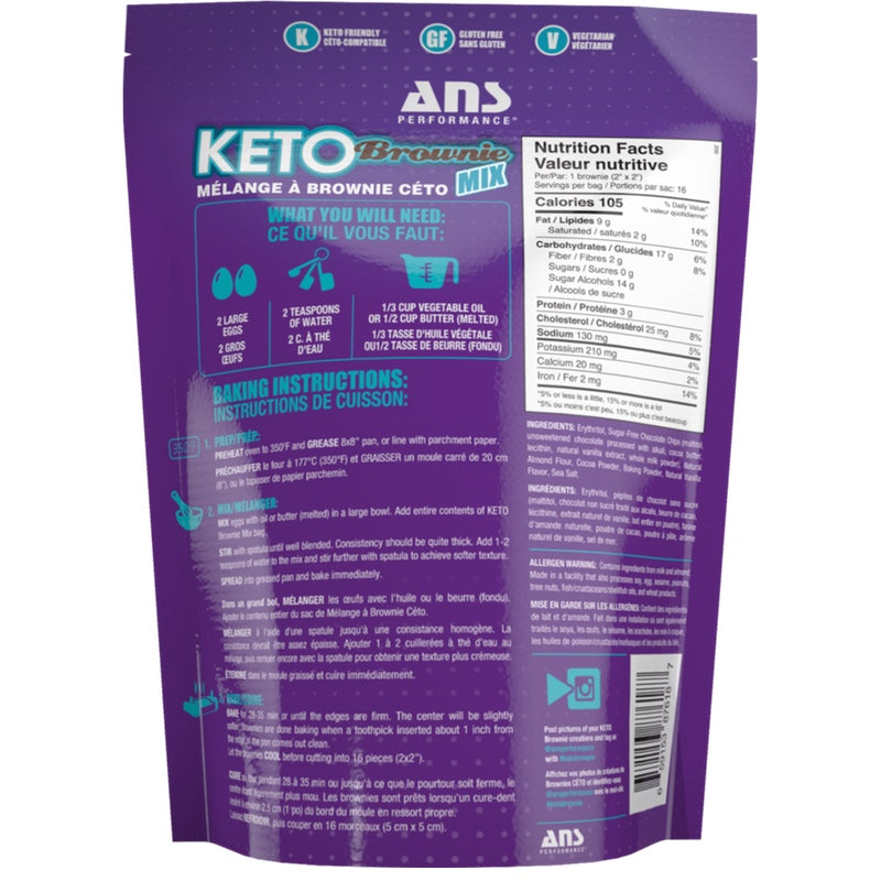 ANS Keto Brownie - 16 Servings A