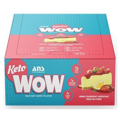ANS Performance KETOwow Bar - 12 Bars Lemon Strawberry Cheesecake