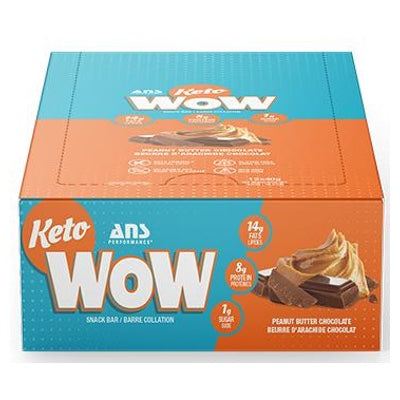 ANS Performance KETOwow Bar - 12 Bars Peanut Butter Chocolate