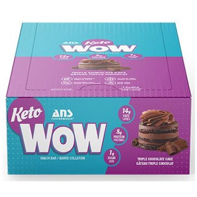ANS Performance KETOwow Bar - 12 Bars Triple Chocolate Cake