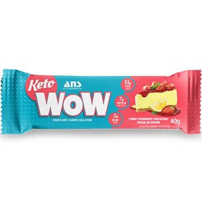 ANS Performance KETOwow Bar - 1 Bar Lemon Strawberry Cheesecake