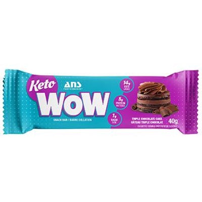 ANS Performance KETOwow Bar - 1 Bar Triple Chocolate Cake