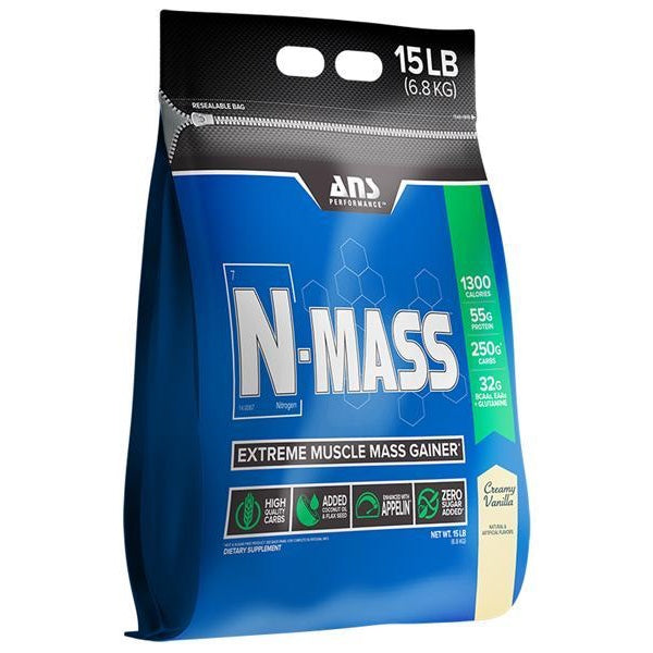 ANS Performance N-MASS Gainer - 15lb Creamy Vanilla
