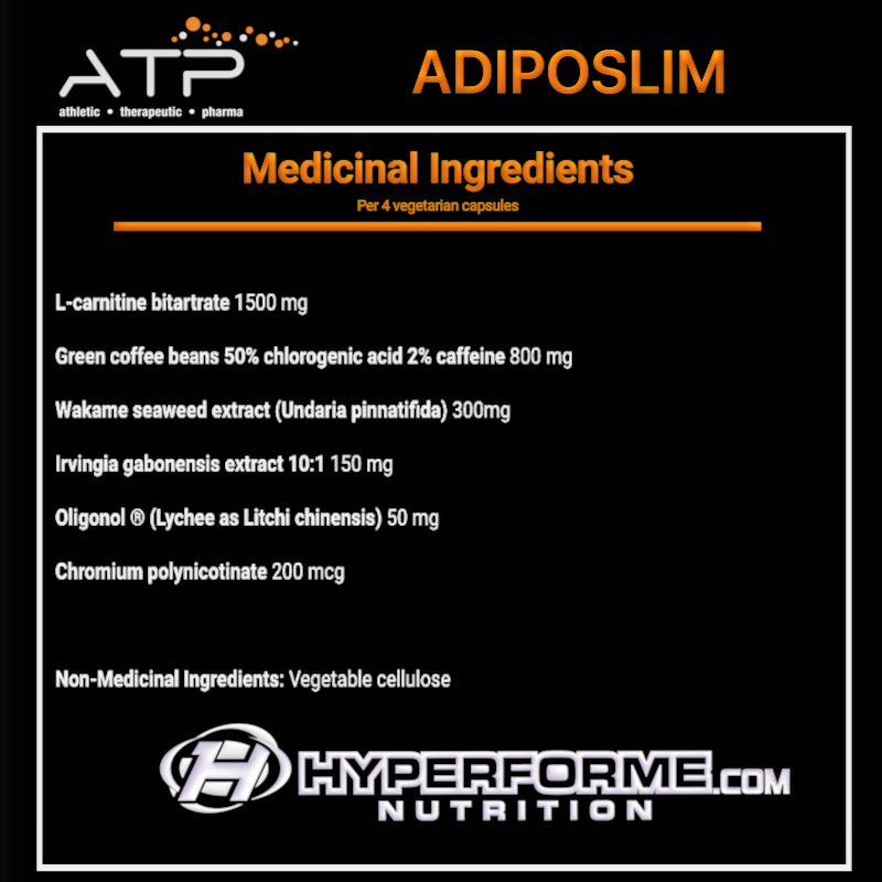 ATP ADIPOSLIM INFO NUTRITION FACTS