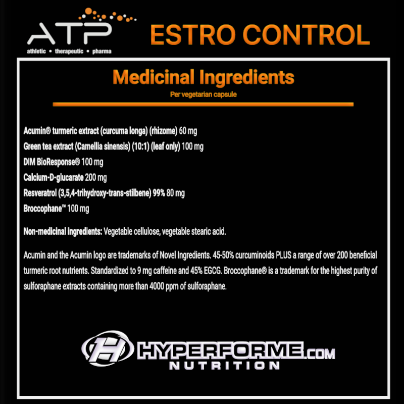 ATP ESTRO CONTROL NUTRITION FACTS INFO. (2465847836749)