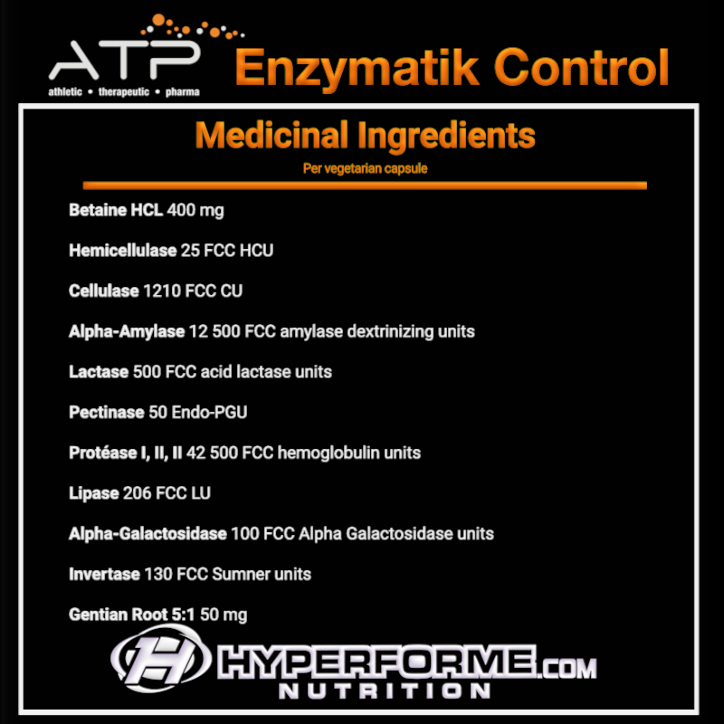 ATP Enzymatik Control NUTRITION FACTS