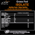 ATP GRASS FED ISOLATE NUTRITION FACTS (3636504723533)