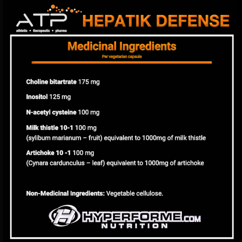 ATP HEPATIK DEFENSE NUTRITION FACTS INFO