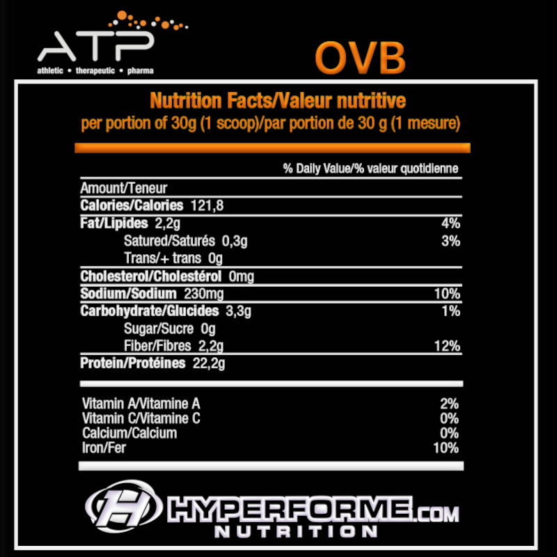 ATP OVB NUTRITION FACTS INFO (2465845936205)