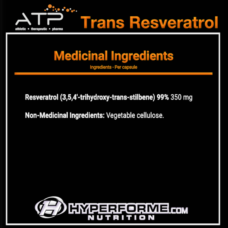 ATP Trans Resveratrol NUTRITION FACTS INFO (2465804615757)