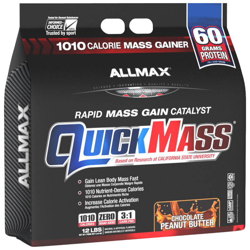 Allmax Quickmass chocolate peanut butter 12 lb (2465832632397)